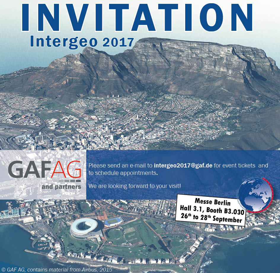 Invitation Intergeo 2017