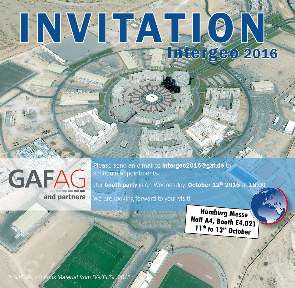 Invitation to the Intergeo 2016 from GAF AG